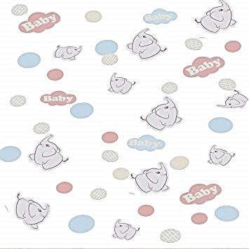 Baby Shower TABLE Confetti - Ginger RAY Cute Baby ELEPHANT Confetti 14 g - GINGER Ray CONFETTI - BABY Elephant Table CONFETTI - Baby Shower CONFETTI