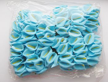 Artificial Calla Lilies - BLUE - Artificial Flowers - FLOWERS & Garlands - BLUE Foam Calla Lily BUNCH - Wedding Decoration - HOME Decor - CRAFTING