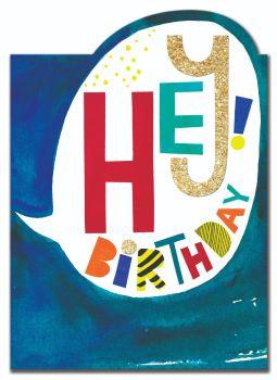 Birthday Card for Boy - HEY BIRTHDAY - HAPPY Birthday GREETING Card - BIRTHDAY Card for GRANDSON - Son - BROTHER - Children's BIRTHDAY Card