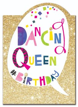 Birthday 'Dancing Queen' Card for a Girl - DANCING Queen BIRTHDAY - Dancing BIRTHDAY Card - Birthday Card for DAUGHTER - Granddaughter - SISTER