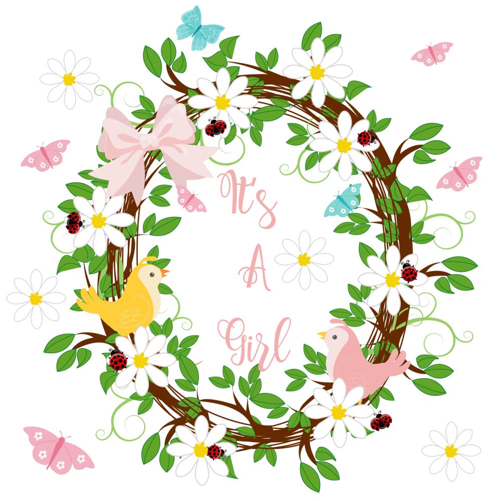 New Baby Cards - It's A GIRL - HANDMADE - Baby GIRL Cards - CUTE Congratula