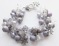 WOMEN'S Beaded Bracelet - HANDMADE - Chunky BRACELET - Cluster BRACELET - JEWELLERY - LILAC & Silver - MOTHER'S Day GIFT - DAUGHTER Gift