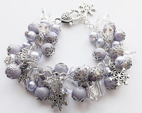 WOMEN'S Beaded Bracelet - HANDMADE - Chunky BRACELET - Cluster BRACELET - J
