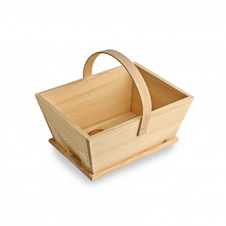 Wooden Trug - LARGE - Oblong - NATURAL Wood DISPLAY Trug - CONFETTI Cone HO