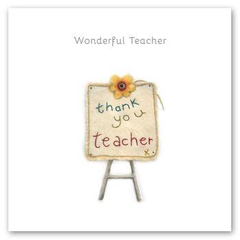 Cards For Teachers - WONDERFUL Teacher - THANK You TEACHER - Teacher THANK You CARDS - Thank YOU Cards - Teacher Leaving THANK You CARDS - LEAVING