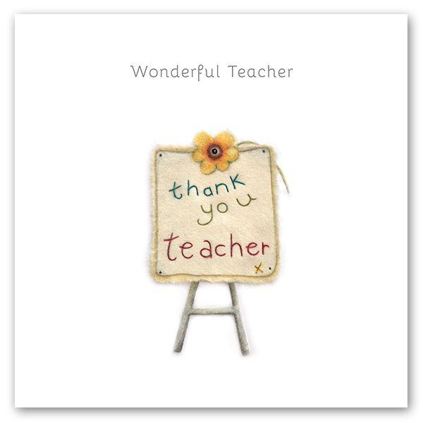 Cards For Teachers - WONDERFUL Teacher - THANK You TEACHER - Teacher THANK