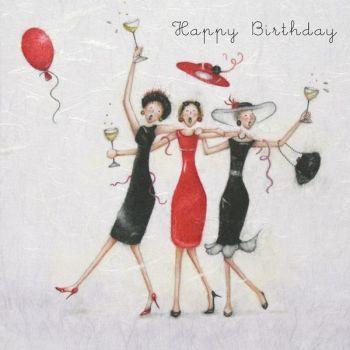 Best Friend Birthday Cards - HAPPY Birthday - Birthday Cards FOR Best FRIENDS - Birthday CARD For Sister - PARTY Girl BIRTHDAY Card - Drinking CARD
