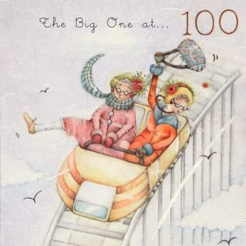 100th Birthday Cards - FUNNY 100th Birthday Cards - THE Big ONE At 100 - MILESTONE Birthday - FUN Fair CARD - Card FOR Friend - GREAT Gran - Granny