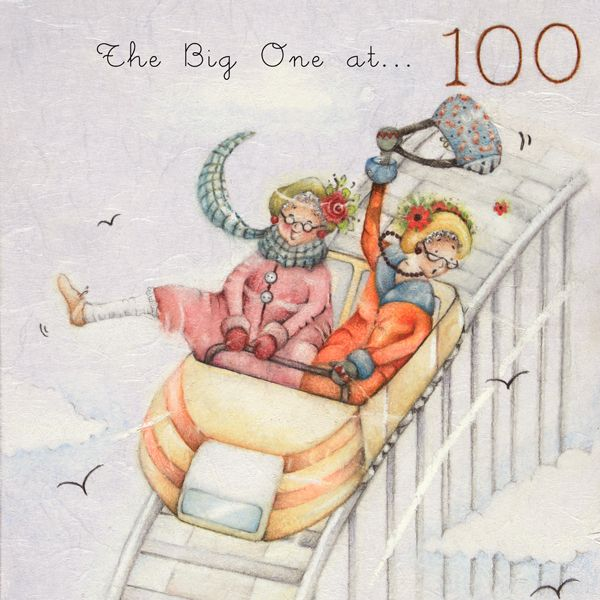 100th Birthday Cards - FUNNY 100th Birthday Cards - THE Big ONE At 100 - MI