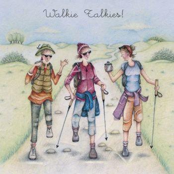Hiking Birthday Cards - WALKIE Talkies - GREAT Fun RAMBLING - Walking THEME Birthday Card - BIRTHDAY Card FOR Best Friend - FRIENDS - Sister - FUNNY