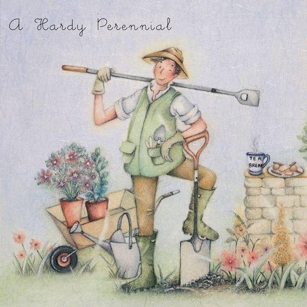 Male Birthday Cards - A HARDY Perennial - MALE Gardening Cards - FUNNY Gard