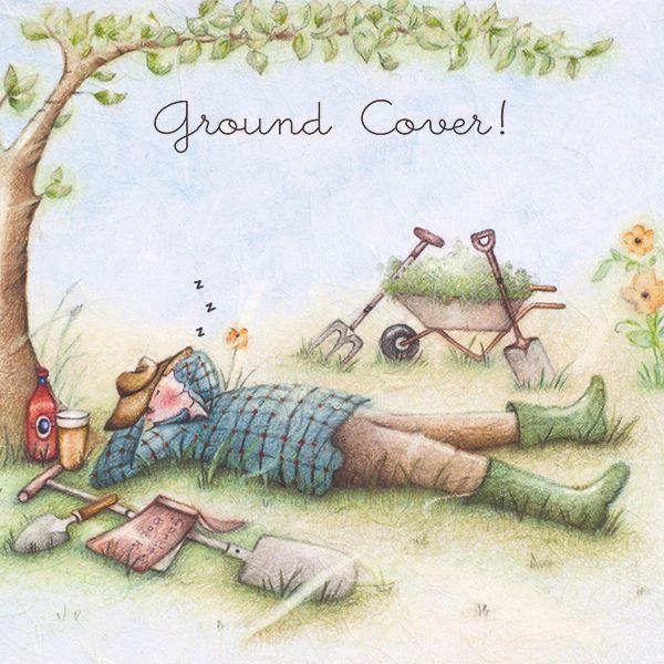 Gardening Card - GROUND Cover - Funny Gardening CARD - Gardening BIRTHDAY C