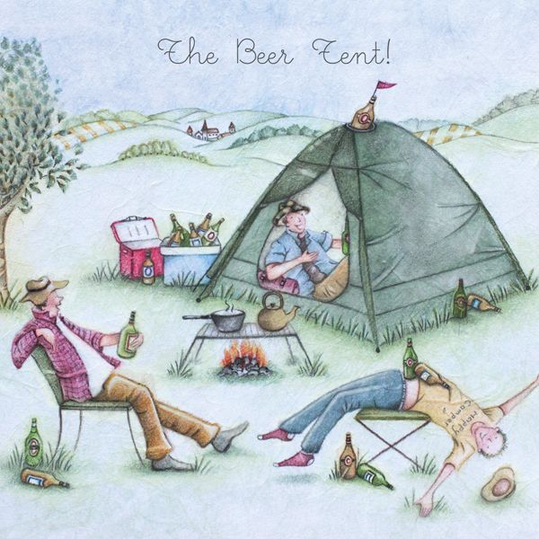 Camping Card - FUNNY Camping CARDS - The BEER Tent - HUMOROUS Drinking CARD