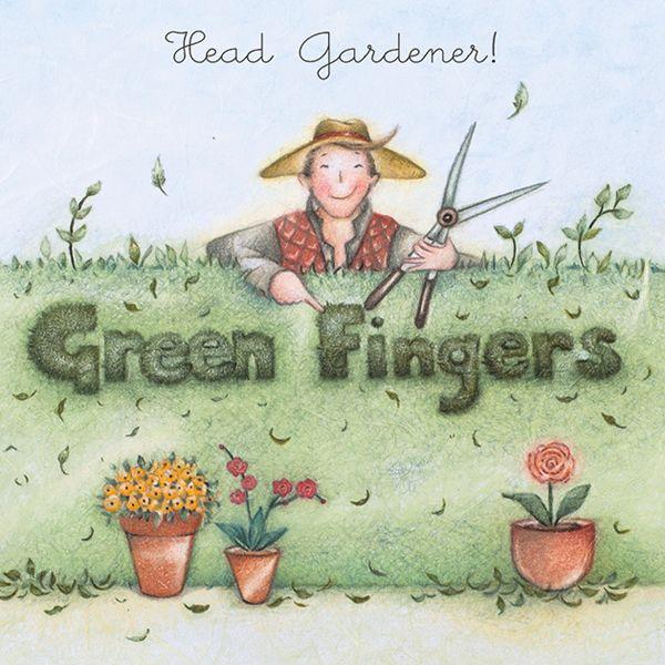 Male Birthday Cards - HEAD Gardener - MALE Gardening Card - FUNNY Gardening