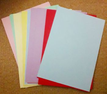 A4 Coloured Card Pack - 52 SHEETS Card PACK - MULTICOLOURED - Coloured CARD Pack - Coloured CARD A4 Asst - KIDS Crafts