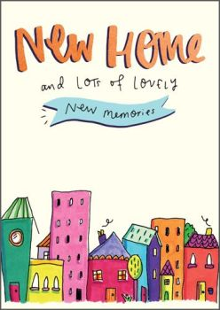 New Home Cards - LOTS Of Lovely NEW MEMORIES - New HOME Greeting CARDS - House WARMING Card - New HOUSE Card - Colourful NEW Home CARD