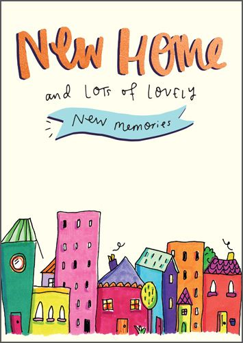 New Home Cards - LOTS Of Lovely NEW MEMORIES - New HOME Greeting CARDS - Ho