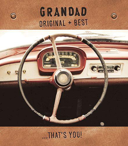 Grandad Birthday Cards - GRANDAD Original BEST That's YOU - CAR Birthday CA