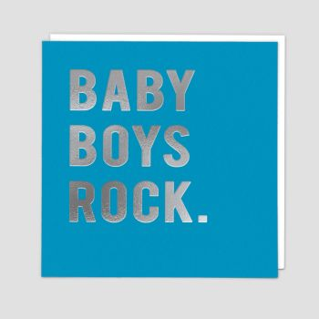 Baby Boy Cards - BABY Boys ROCK - New BABY Cards - NEWBORN Baby Boy CARDS - CARD For NEW Baby BOY - STYLISH Baby GREETING Card