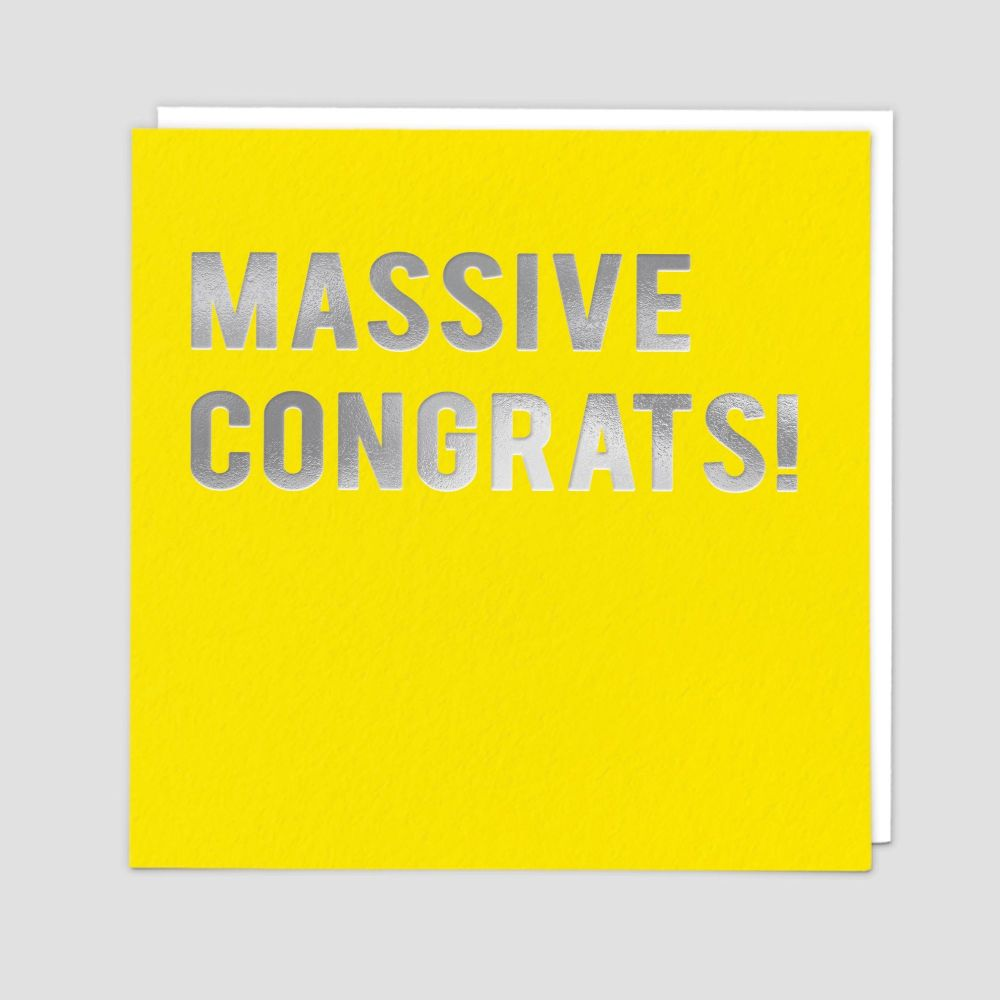 Congratulations Card - MASSIVE CONGRATS - CONGRATULATIONS New BABY - New JO