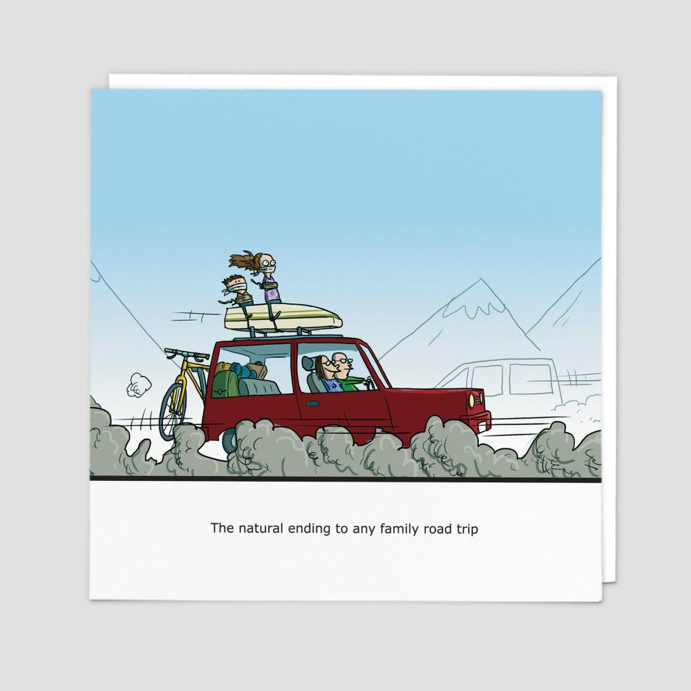 Rude Cards - BANTER Cards - FAMILY ROAD Trip - Blank GREETING Cards - FUNNY