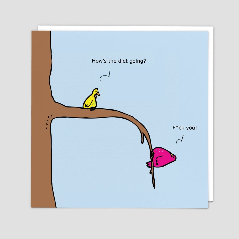 Rude Cards - BANTER Cards - HOW'S The DIET Going - Blank GREETING Cards - F