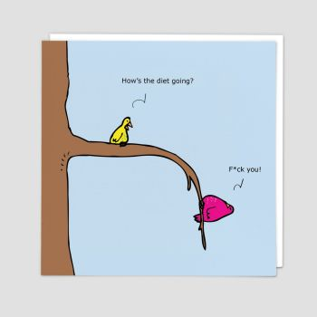 Rude Cards - BANTER Cards - HOW'S The DIET Going - Blank GREETING Cards - FUNNY Greeting Cards - Funny BIRTHDAY Card - Birthday CARDS