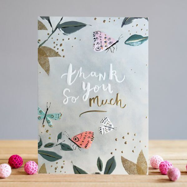 Thank You So Much Greeting Card - BEAUTIFULLY Embossed THANK You CARD - Pre