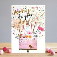 Birthday Card For Her - HOORAY it's YOUR Day - Birthday CAKE Card - CAKE Birthday Cards - BIRTHDAY Card For FRIEND - Daughter - SISTER - Granddaughter