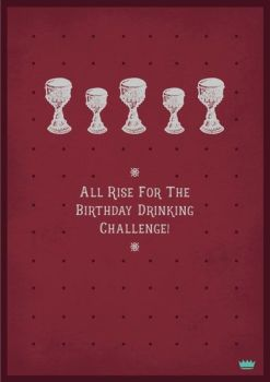 Male Birthday Cards - BIRTHDAY Drinking CHALLENGE - Drinking BIRTHDAY Cards - FUNNY Cards ABOUT Drinking - BIRTHDAY Wishes FOR Drinker FRIEND