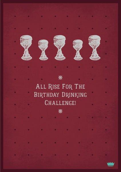 Male Birthday Cards - BIRTHDAY Drinking CHALLENGE - Drinking BIRTHDAY Cards