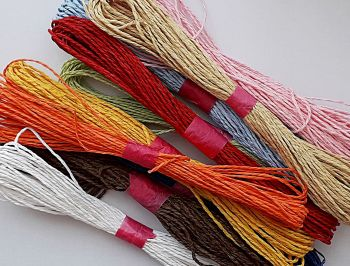 100 Metres of Raffia Cord - MULTI COLOUR Pack - CRAFT Twine - ROPE String - GIFT Wrapping ROPE - DIY - Scrapbook