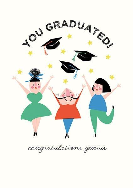 Graduation Cards - YOU Graduated - CONGRATULATIONS Genius - FUNNY Graduatio