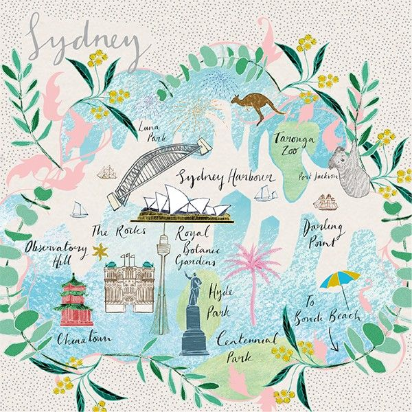 Sydney - CITYSCAPES - Artistic Blank Cards - SYDNEY Cityscape GREETING Card