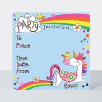 Unicorn Birthday Invitations – PACK Of 8 UNICORN Party INVITATIONS - UNICORN Party INVITATIONS - Unicorn PARTY Supplies - CHILDREN'S Unicorn INVITES