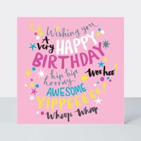 Birthday Card for Girl - PINK Girly Birthday CARD - A Very HAPPY Birthday - BIRTHDAY Card for TEENAGE Girl - DAUGHTER - Sister - GRANDDAUGHTER