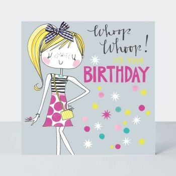 Birthday Card For Little Girl - WHOOP WHOOP It's YOUR Birthday - Little MISS Sassy BIRTHDAY Card - Children's Birthday Card - DAUGHTER - GRANDDAUGHTER