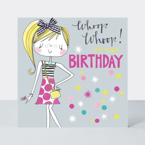 Birthday Card For Little Girl - WHOOP WHOOP It's YOUR Birthday - Little MIS