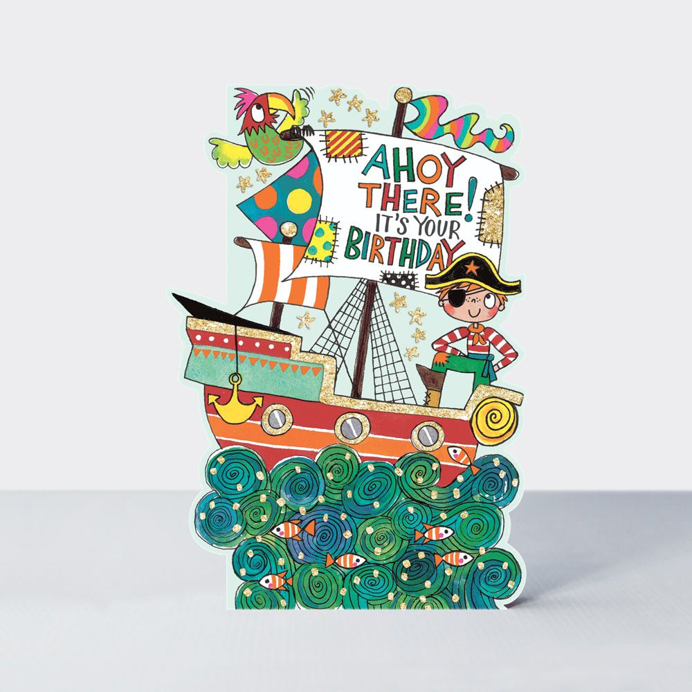 Superb Pirate Birthday Card Ahoy There Its Your Birthday Funny Funny Birthday Cards Online Fluifree Goldxyz