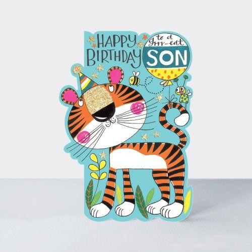 Birthday Card Son - Tiger BIRTHDAY Card - HAPPY Birthday - To A Grrr-eat SO