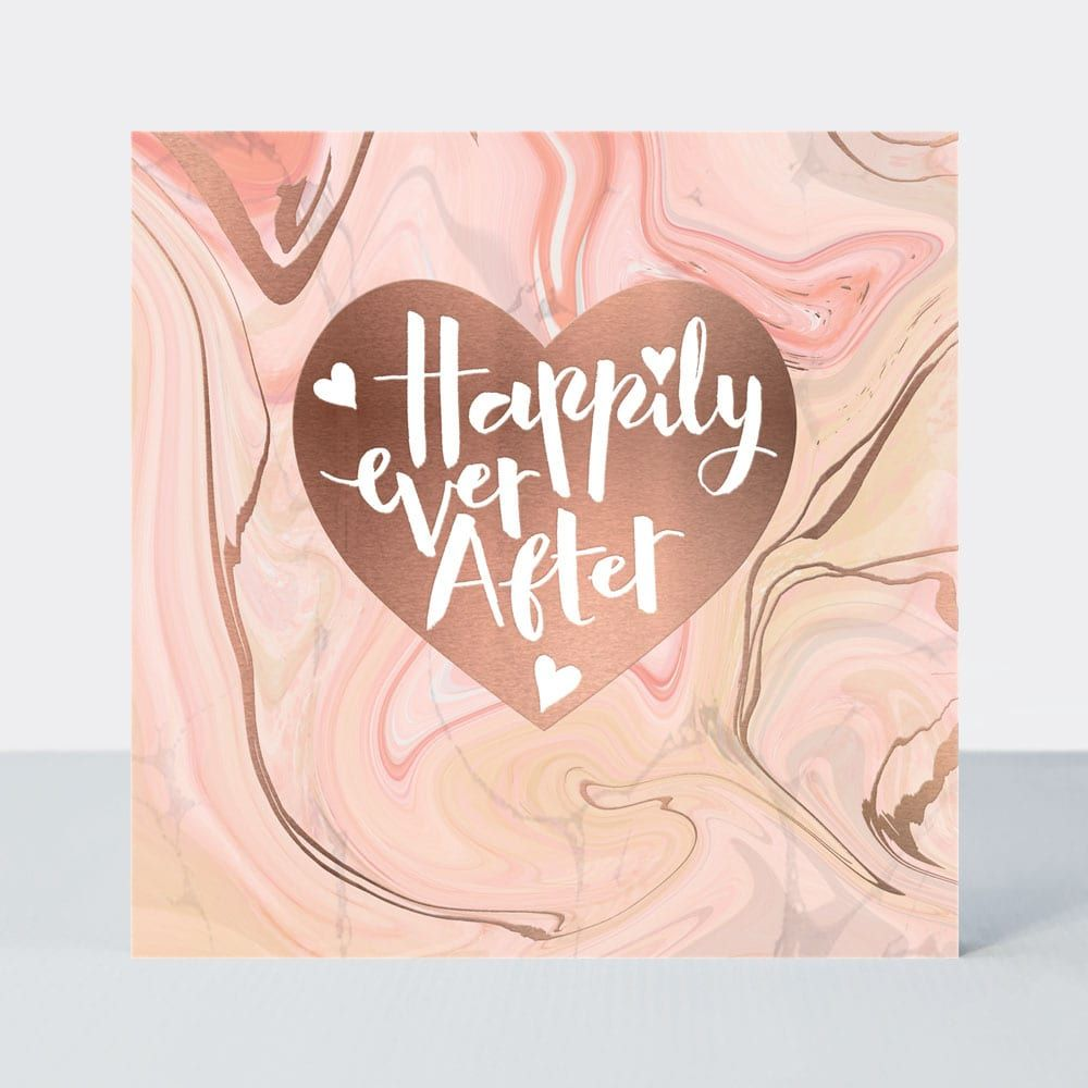 Wedding Cards - WEDDING Congratulations CARDS - HAPPILY Ever AFTER - Blush