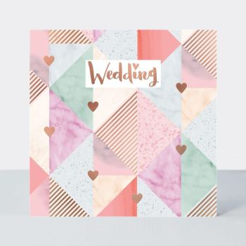 Wedding Cards - WEDDING - Wedding Congratulations CARDS - Wedding GREETING Cards - PRETTY Blush Rose WEDDING DAY Card