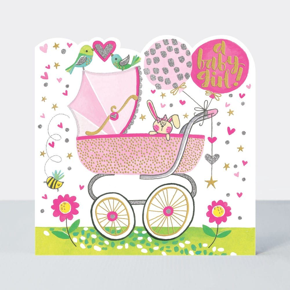baby girl cards - a baby girl - new baby girl cards