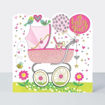 Baby Girl Cards - A BABY Girl - New BABY Girl Cards - BABY Greeting Cards - New BABY Cards - CONGRATULATIONS - New BABY Girl Wishes - CUTE Card