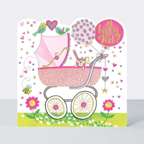 Baby Girl Cards - A BABY Girl - New BABY Girl Cards - BABY Greeting Cards -
