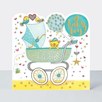 Baby Boy Cards - A BABY Boy - BEAUTIFUL Baby BOY Card - NEWBORN Baby BOY Cards - BABY Boy CARD - NEW Baby CARDS
