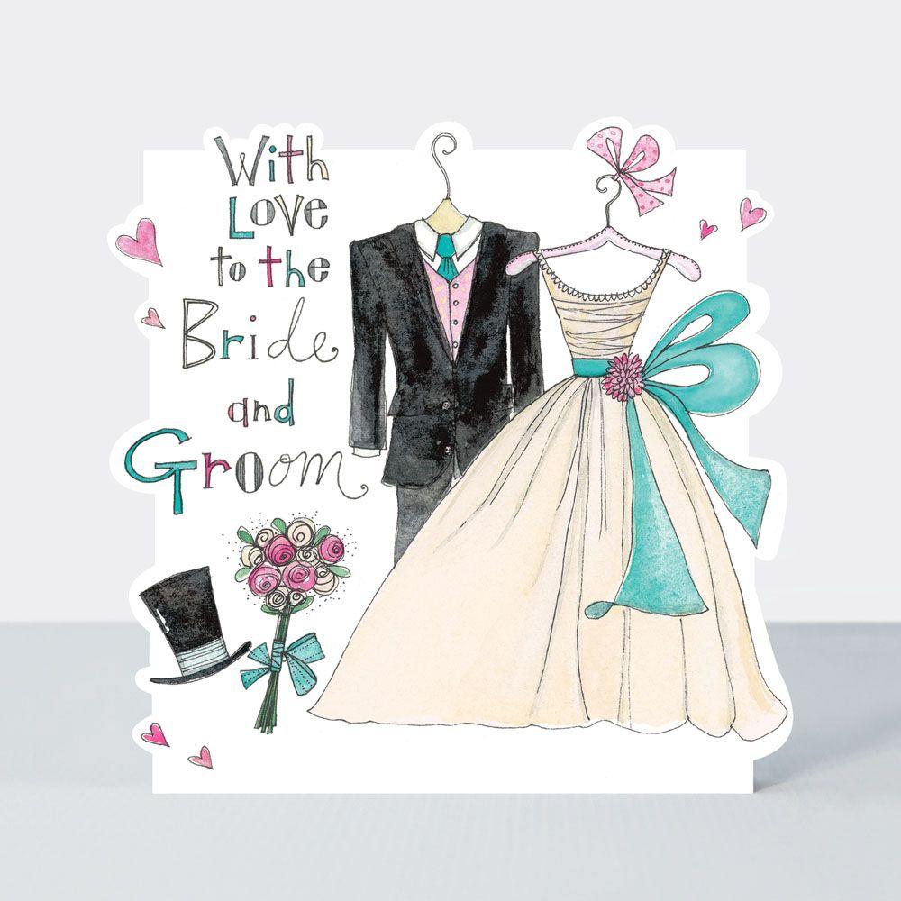 Wedding Cards - WITH LOVE - Bride & Groom - WEDDING Day CONGRATULATIONS Car