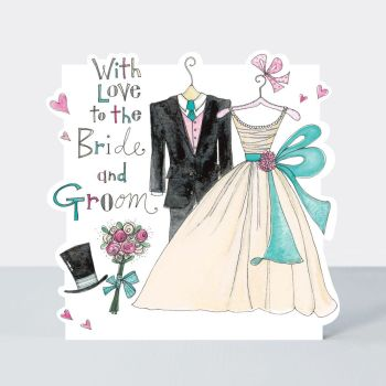 Wedding Cards - WITH LOVE - Bride & Groom - WEDDING Day CONGRATULATIONS Cards - Mr & Mrs - WEDDING Day GREETING Cards