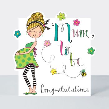 Mum To Be Greeting Card - MUM To BE - Pregnancy CONGRATULATIONS Cards - MUM To BE Card - BABY Shower Card - MUMMY To Be CARD - Pretty CARD