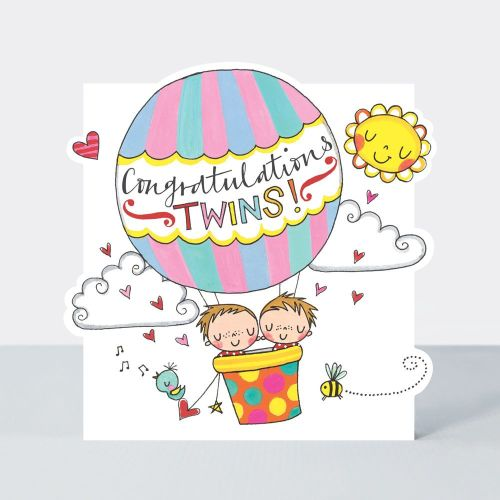 New Twins & Twin Birth Cards - CONGRATULATIONS Twins CARD - Cards For TWIN